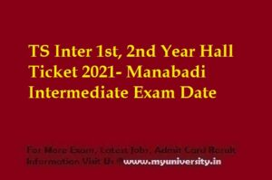 TS Inter 1st, 2nd Year Hall Ticket 2021