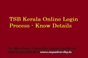 TSB online.kerala.gov.in Login Page
