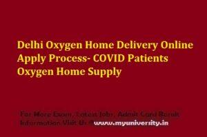 Delhi Oxygen Refilling Home Delivery Online Apply