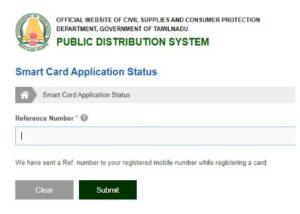 TNPDS Smart Ration Card Application Status 2021